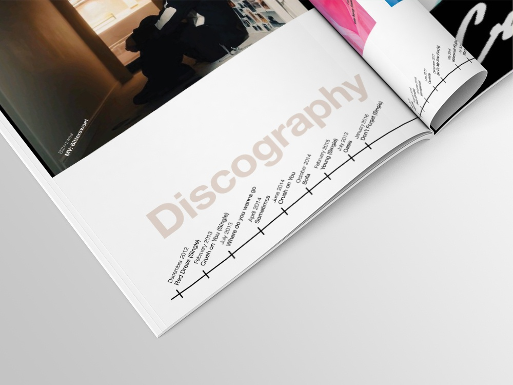 Book of Music Discography kpop crush layout brochure booklet design booklet book design book