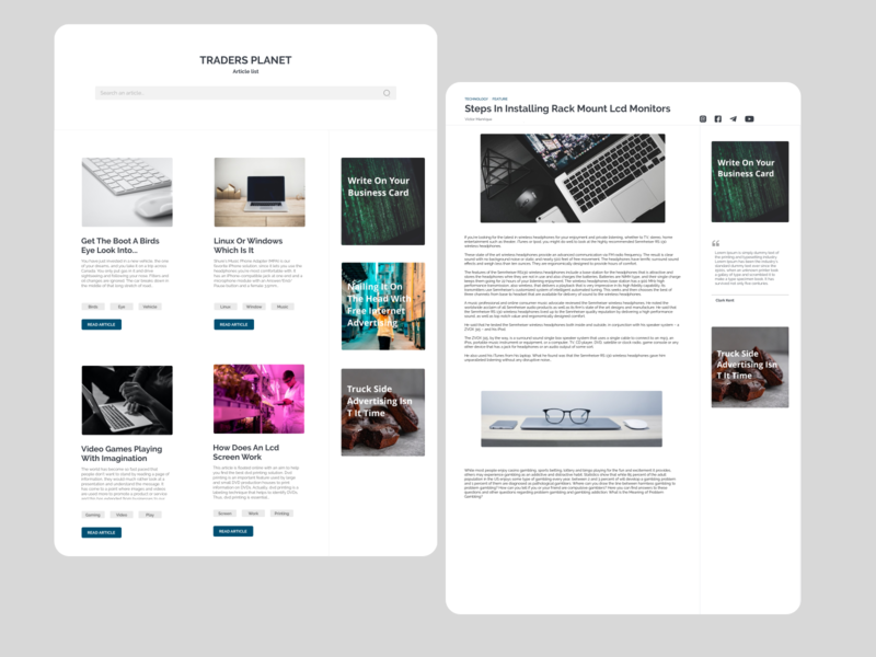 Traders Planet Blog ui  ux web product design ui typography illustration web design minimal design clean