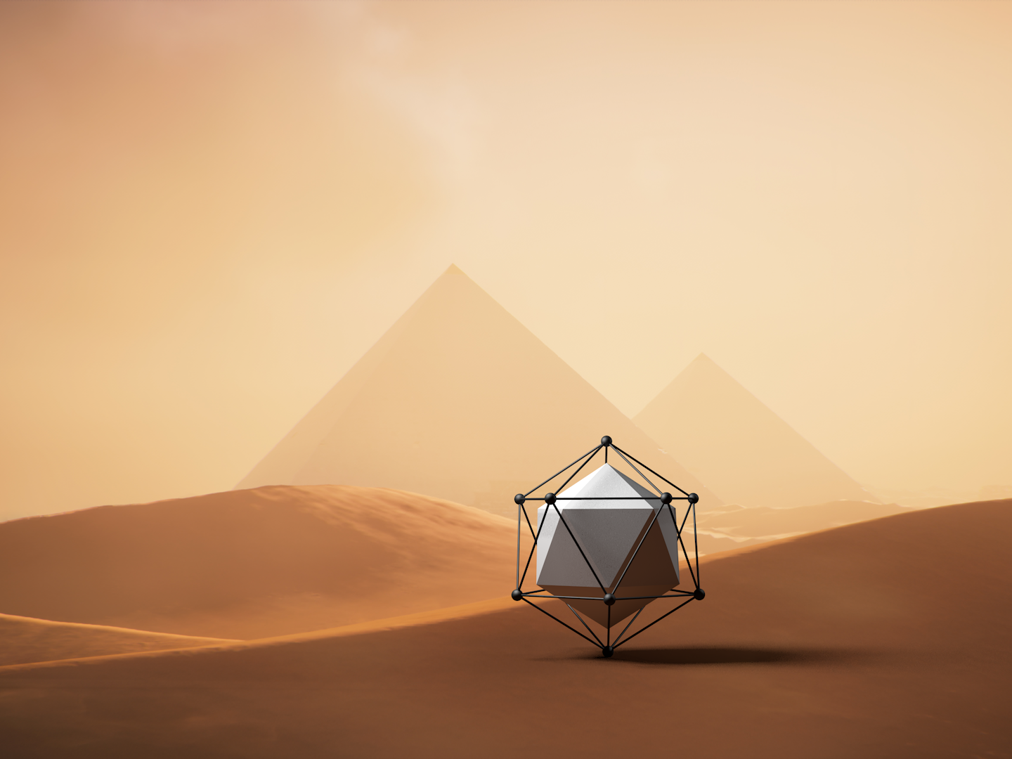 Lonely Planet lonely concept cube c4d 3d
