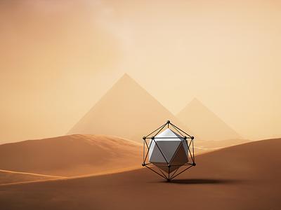 Lonely Planet lonely concept cube c4d 3d