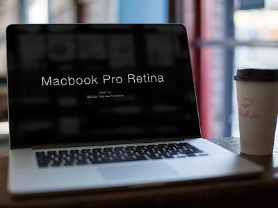Macbook Cafe Mock-Up mock-up download free café coffee laptop freebie macbook pro