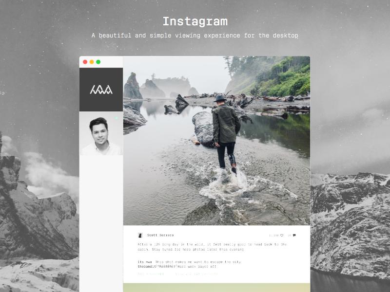 Instagram desktop viewer by Nichlas Wærnes Andersen on Dribbble