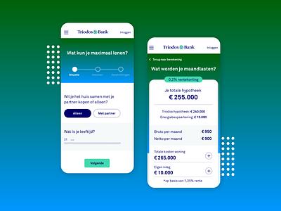 Triodos Bank mobile homepage uidesign ux uxdesign ui website branding graphic design webdesign visual design mobile design