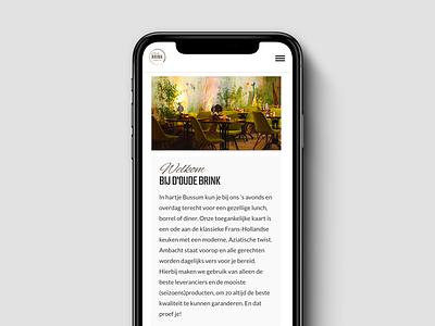 Website restaurant d'Oude Brink webdesign visual design website mobile