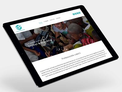 Website Creatieve prikkels visual design webdesign website