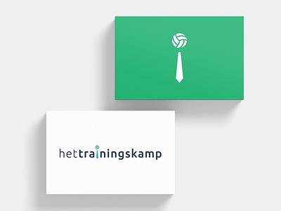 Business cards Het Trainingskamp branding stationary graphic design business cards