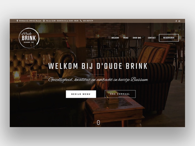 Homepage restaurant d'Oude Brink wordpress homepage website restaurant visual design webdesign