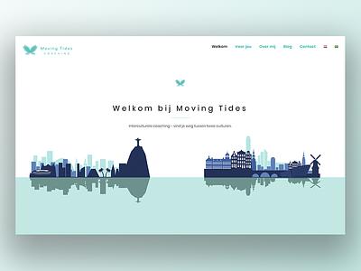 Website Moving Tides ux brazil visualdesign homepage webdesign website