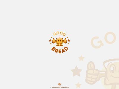 logo Good Bread logotype food foodlogo logobrand logodesign logobread breadlogo mascot logo design logo design concept logo design branding branding logo conception logos logo design logo inspiration logo folio logo