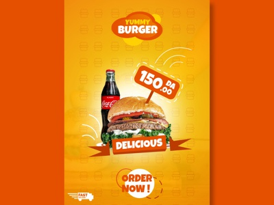Flyer Yummy Burger 1 algerian design graphic designer graphic design food flyers design flyerdesigner flyer designer flyer artwork flyerdesigns flyer design template food flyer flyers flyer design flyerdesign flyer