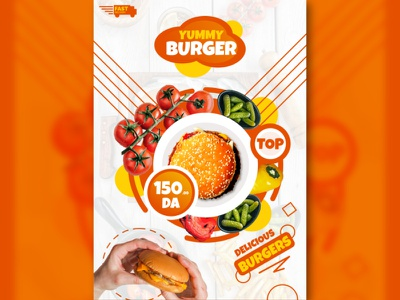 Flyer Yummy Burger 2 flyerfastfood fastfood flyers flyer design template flyer design ideas flyer template flyer templates flyer artwork flyer designs flyer designer flyer design foodflyer food burger flyer burger flyer