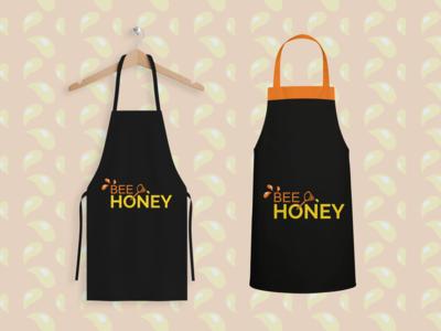 Logo Bee Honey Apron Mockup