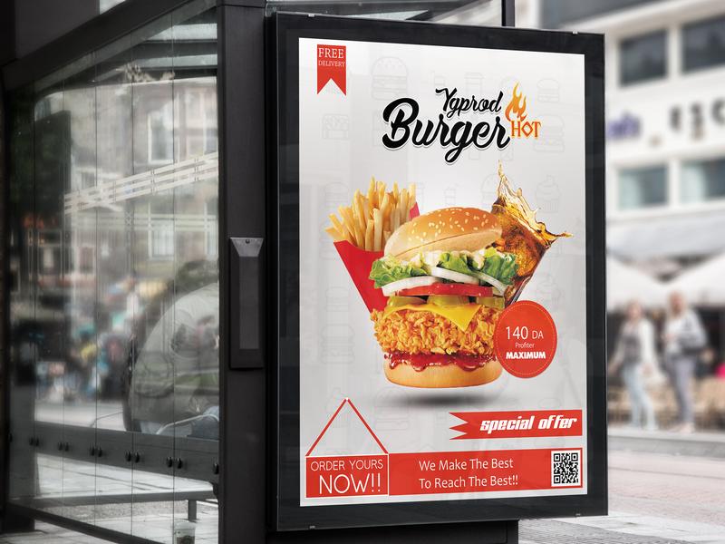 Burger Flyer conception graphisme flyer concept flyer conception burger flyer fast food flyer restaurant flyer flyer illustration graphisme food flyer design poster flyer designs flyer