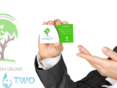 Logo Water4Two on Business Card
