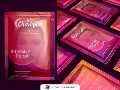 Shampoo Sachet Packaging Design