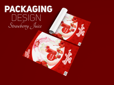 Packaging Design Strawberry juice