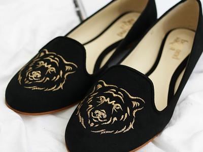 Bear Flat Vegan Slipper vegan animal illustration animal bear illustration bear design illustration graphic design footwear design footwear fashion ethical business ethical