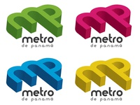 Second proposed logo for the subway of Panama