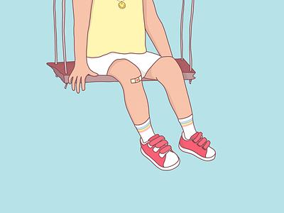 ツ cute rainbow kid pastel illustration procreate