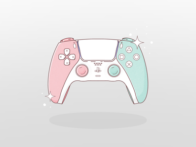 Ps5 controller procreate sparkles pastel playstation