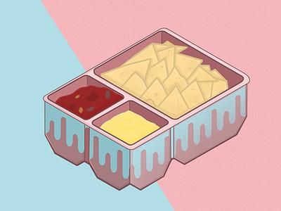 Nachos cheese food pastel nachos