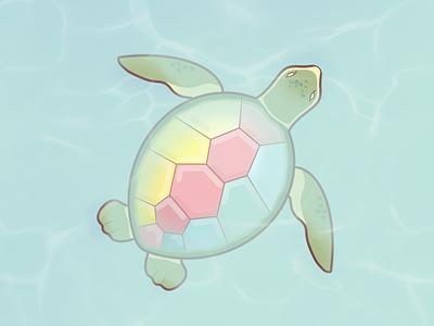 Magic Turtle turtle colorful water procreate pastel