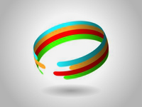 Professional Logo Color Ring Design