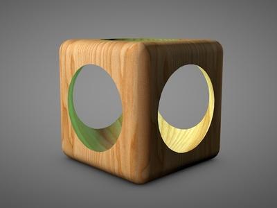 Cube Wood
