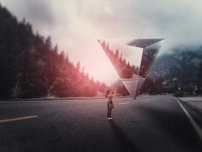 Surreal Landscape Geometric Photo