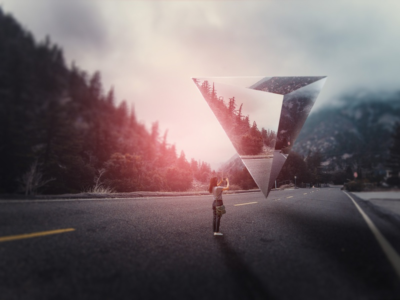 Surreal Landscape Geometric Photo manipulation freelancer photoshop freelance design color freelance graphic-design adobe cc art adobe graphicdesign graphic art graphic design