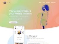 Music Mobile App Landing Page 2x