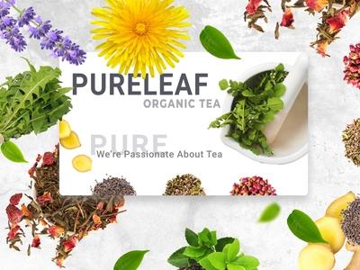 Organic tea mockup