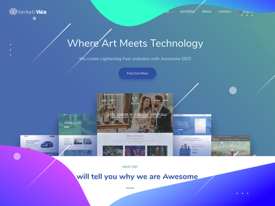 Kerketi Web - Design Studio design website front end development seo typography ux ui logo web ui dashboard ui ux design web-development web-design branding