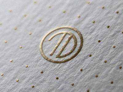 Travel Dynamics Agency Logo (Concept) gold logo initials monogram minimalist luxury brand travel classy metallic agent agency