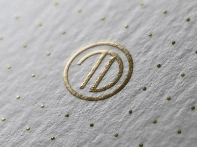 Travel Dynamics Agency Logo (Concept) gold logo initials monogram minimalist luxury brand travel classy metallic agent agency