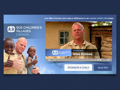 Mike Holmes SOS Online Ad mike holmes ad online digital banner web sos children orphan