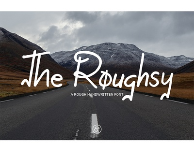 The Roughsy contemporary fashionable event exlusive logo vector typography font branding