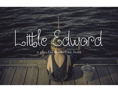 Little Edward - A Playful Font child children event popular exlusive blogger fashion blogger monoline clean fashionable contemporary logo vector branding typography font
