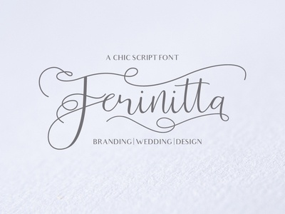 Ferinitta - Chic Calligraphy sophisticated fashion contrast sophiscated blogger unique ligature luxury contemporary merchandise elegant fashion blogger exlusive logo fashionable clean font typography branding