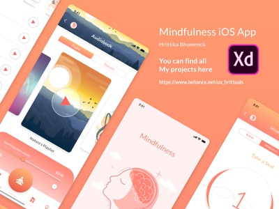 Mindfulness iOS App vector app design branding ui design uxdesign design challenge challenge uplabs meditation app human computer interaction ios app user interface ux  ui