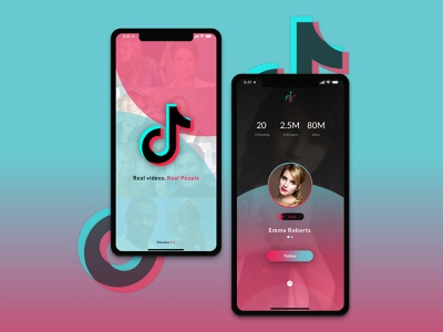 TikTok Redesign Challenge by Uplabs ios app design ux  ui ios app illustration ux ui app design uxdesign human computer interaction design