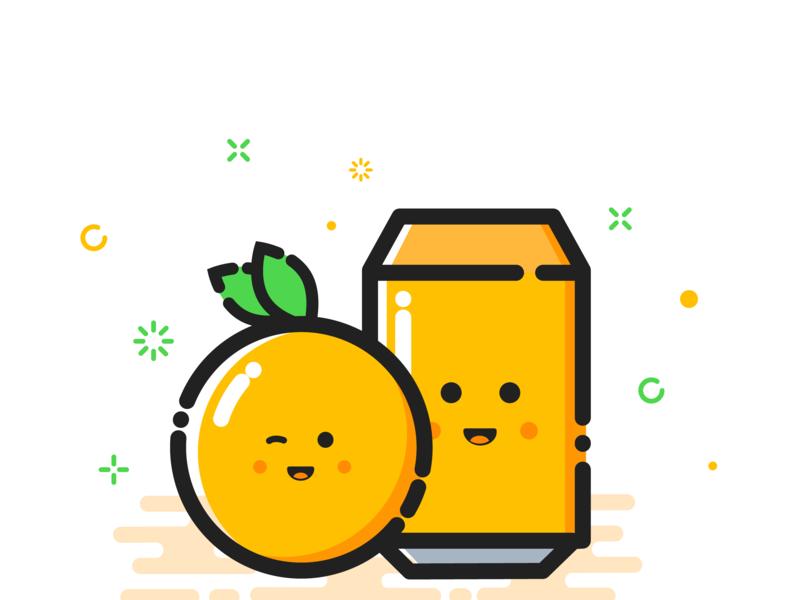 Orange on Mbe Style animation mbe style icon flat branding logo design orange fanta illustration mbe