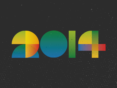Year color type typography shapes