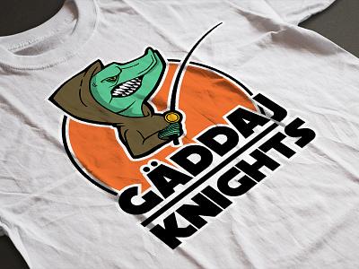 Gäddaj Knights logo illustration print