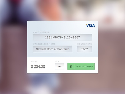 Daily UI Challenge 002 pay credit card dailyui 002 form