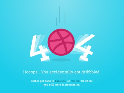 Daily UI Challenge 008 404 dribbble illustration basket 008 dailyui