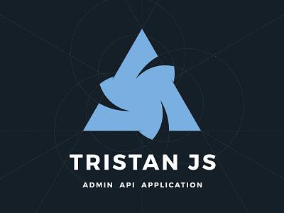 Tristan JS brand branding vector flat concept grid illustration logotype logo