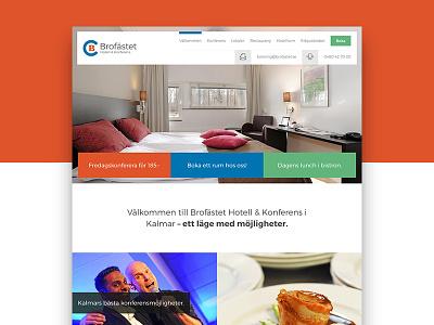 New hotel site hotel colorful flat web design web