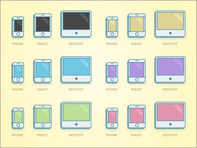 Responsive icons devices web responsive icons