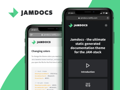 Jamdocs - A serverless documentation theme